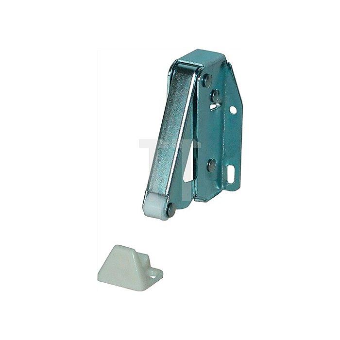 Federschnapper TL 20/35,5x54,7mm Stahl vernickelt mit Gegenstück Kunststoff