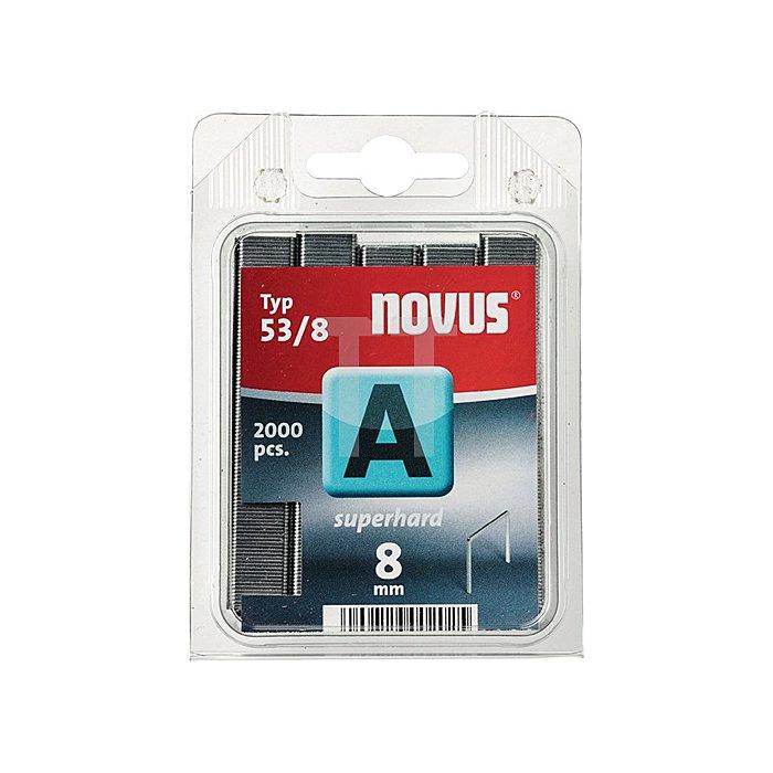 Feindrahtklammer 53/6 Klammer-B.11,3mm Schenkel-L.6mm verz. Stahl 2000St. Novus
