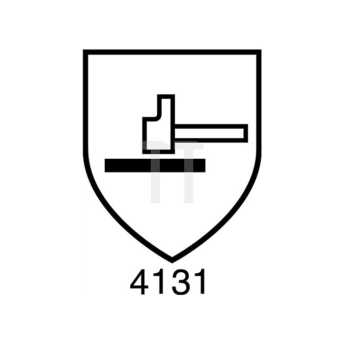 Feinstrickhanddschuh HIT110, EN388 Kat.II, Gr.8, doppelt getaucht Nitril