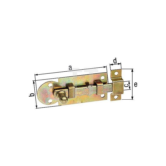 Fensterriegel 80x30x10x10x30mm Stahl roh galv. gelb verz.