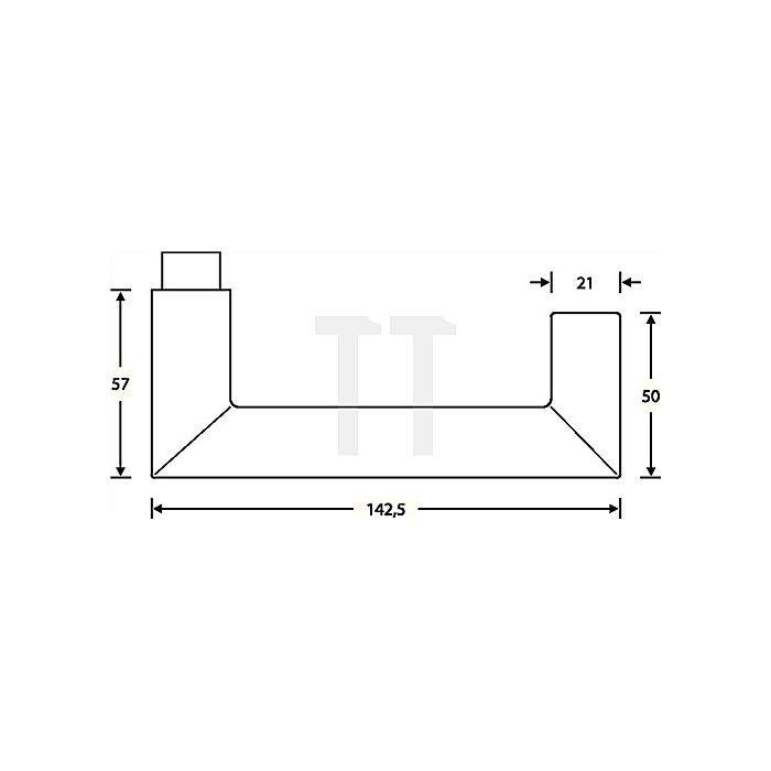Feuerschutz-Garnitur 1016 Rosetten-Grt.VA feinmatt 6204 Türstärke 46-55mm