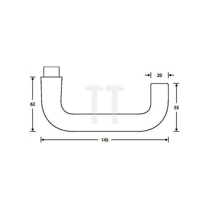 Feuerschutz-Garnitur 1070 Rosetten-Grt.VA feinmatt 6204 Türstärke 46-55mm