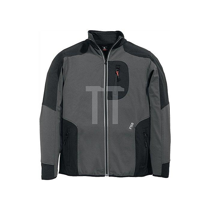FHB Jersey-Fleece Ralf Gr.XL anthrazit-schwarz 91%PES/9%Elastan 230 g/qm