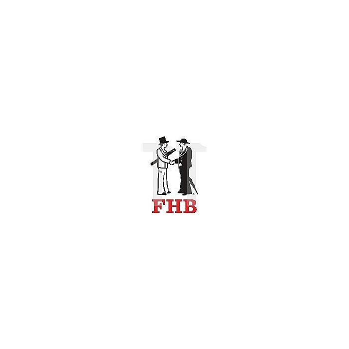 FHB Polo-Shirt Konrad Gr.L royalblau-schwarz 65%BW/35%PES 300 g/qm