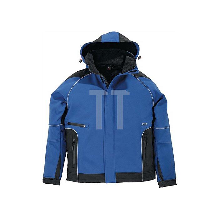 FHB Softshell-Jacke Walter Gr.XL royal-schwarz 96%PES/4%Elasthan 380 g/qm