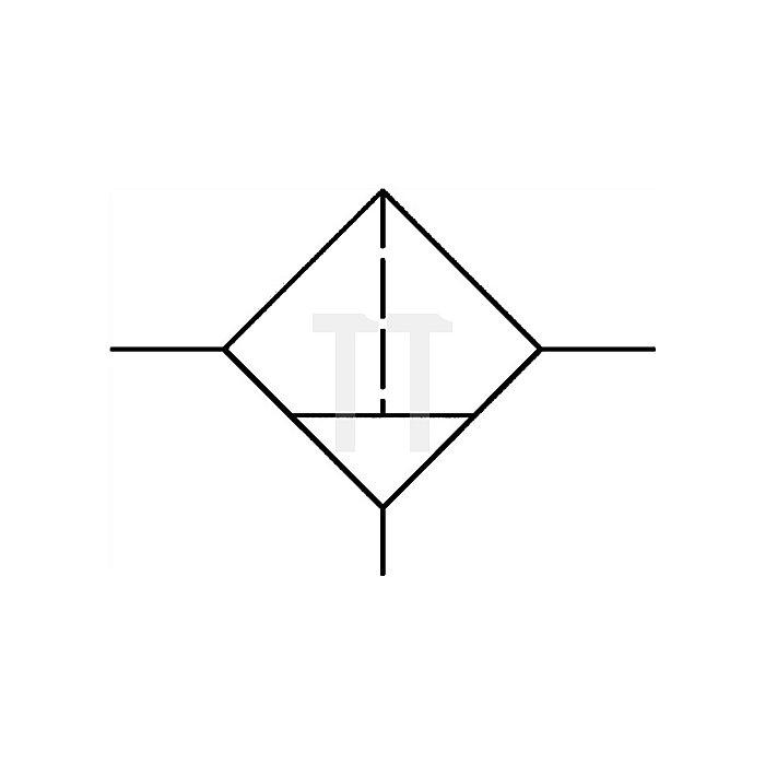 Filter mit Polycarbonatbehälter Gewinde G 1 Durchfluss l/min 7000