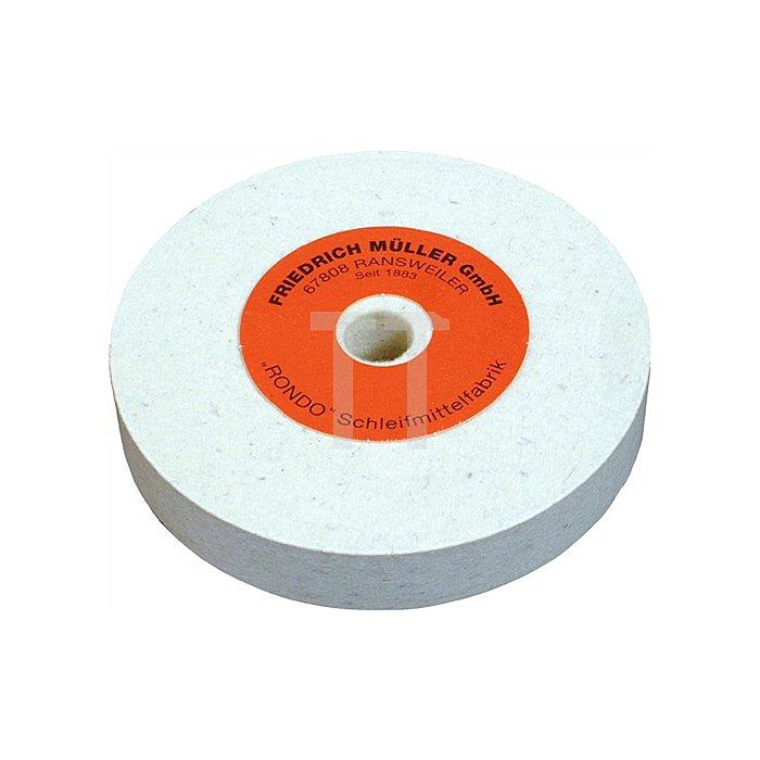 Filzpolierscheibe D.150xB.25xBohrung 20mm