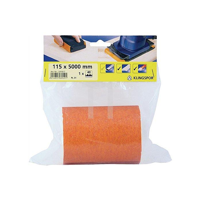 Finishingpapier PL 31 B.115xL.5000 K.40 Rolle L.5m
