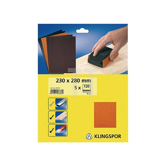 Finishingpapier PL 31 B.230xL.280mm K.60 ungelocht Bogenware