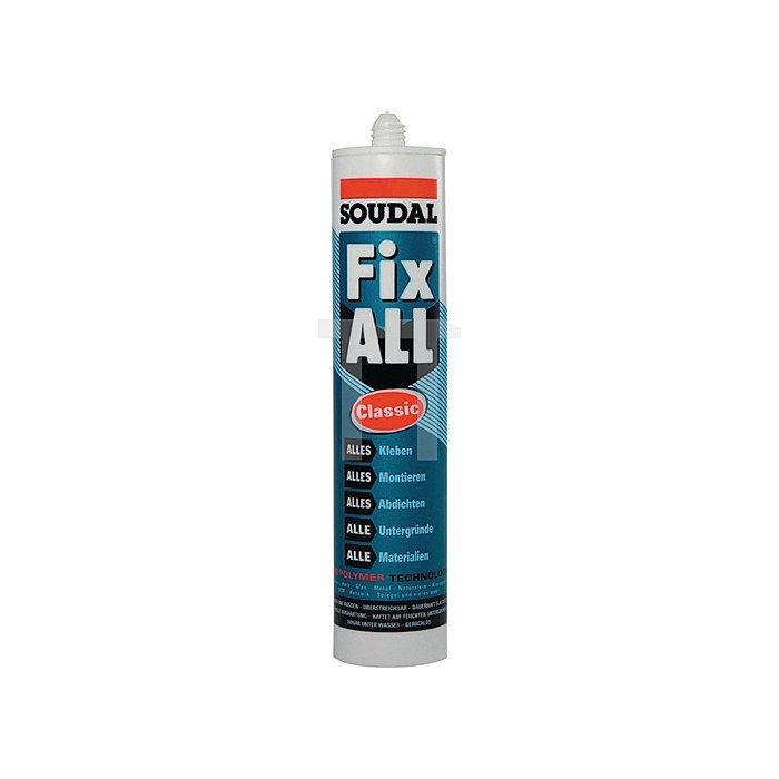 Fix All Classic 1K-Kleb-/Dichtstoff weiss 290ml nass in nass seewasserfest