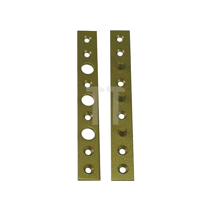 Flach-Bändersicherung 160x20x3mm stark Stahl hell verz. limbafarbig