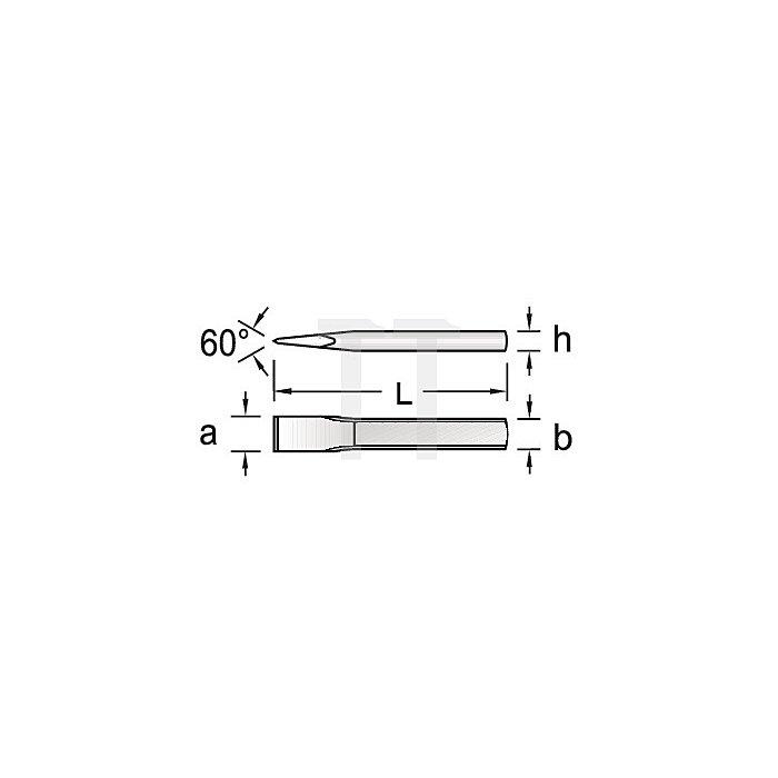 Flachmeißel 400mm flach-oval extra schlanke Form