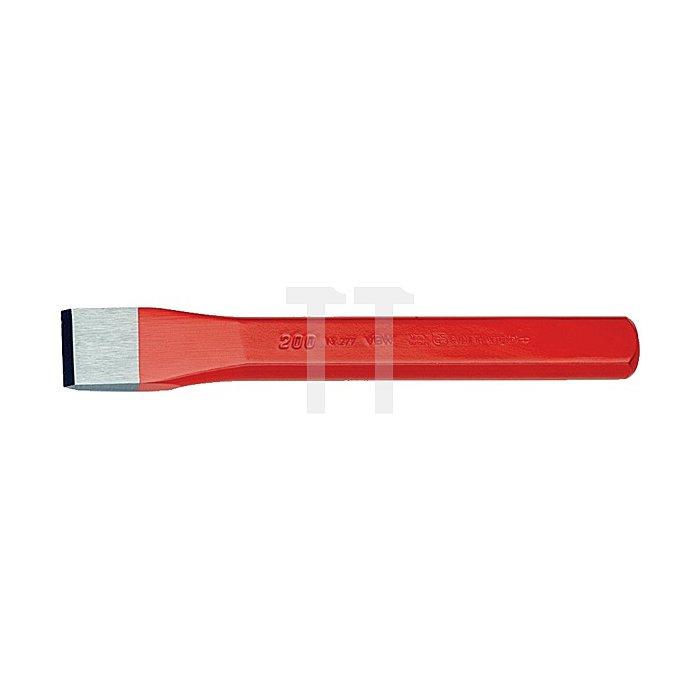 Flachmeißel rot lackiert poliert 200mm