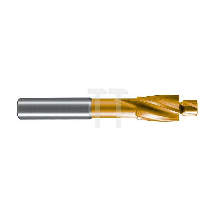 Flachsenker DIN 373 HSS-TiN mit festem Führungszapfen