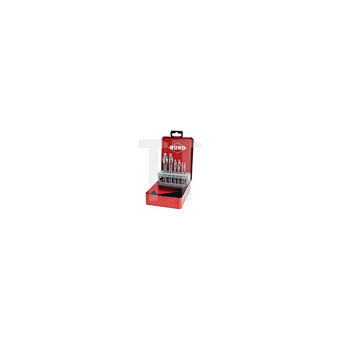 Flachsenker-Satz DIN 373 HSS mit festem Führungszapfen in Industriekassette