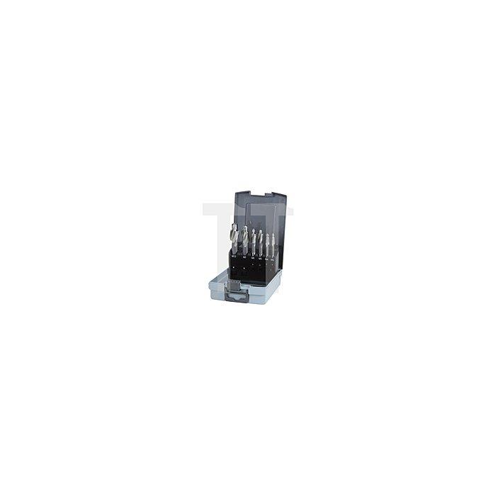 Flachsenker-Satz DIN 373 HSS mit festem Führungszapfen in Kunststoffkassette