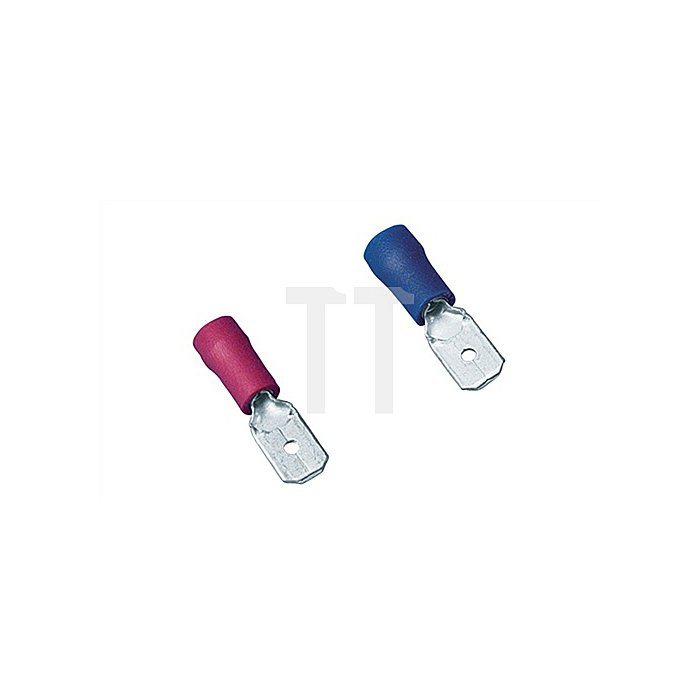 Flachstecker blau 1,5-2,5mm2 6,3x0,8mm2 100St./Btl.