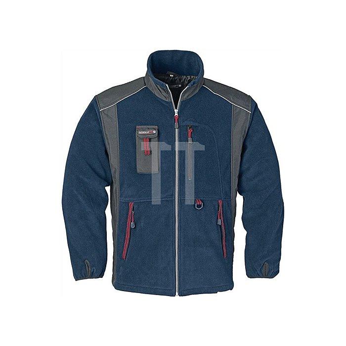 Fleecejacke Gr.XL marine/schwarz/rot 100 % Polyester