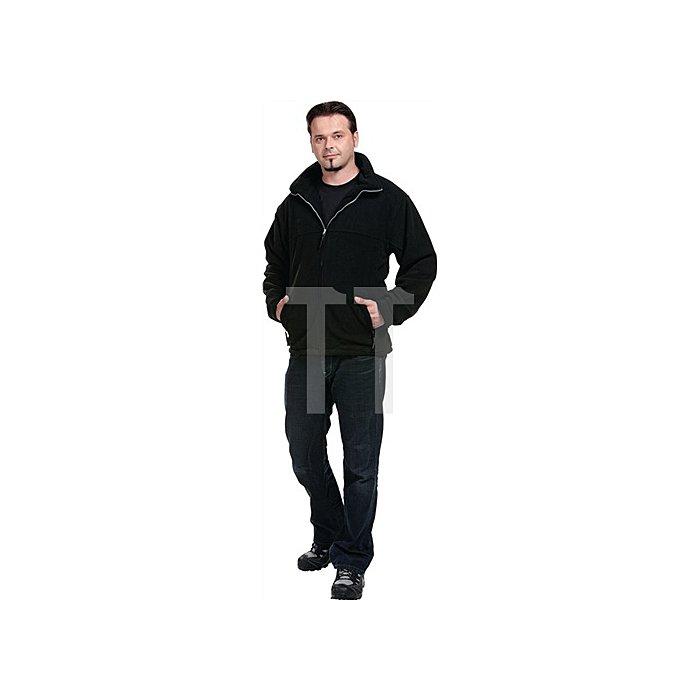Fleecejacke Gr.XL schwarz 100%PES winddicht