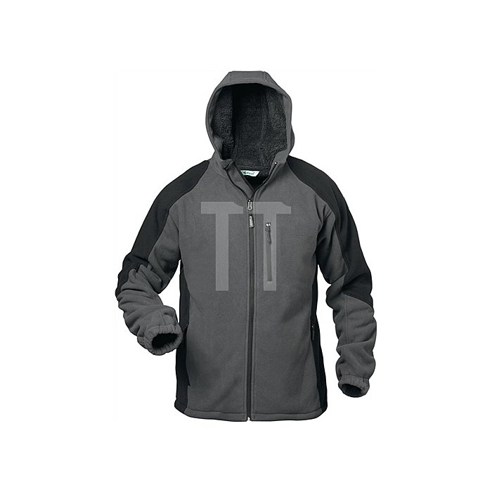 Fleecejacke Tampere Gr.L grau/schwarz 100% Polyester