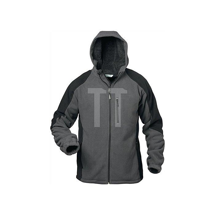 Fleecejacke Tampere Gr.XXL grau/schwarz 100% Polyester