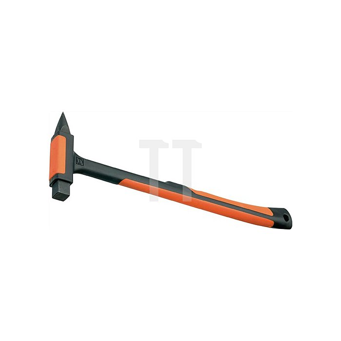 Fliesenhammer mit Hartmetallspitze kompl. Kunststoffmantel