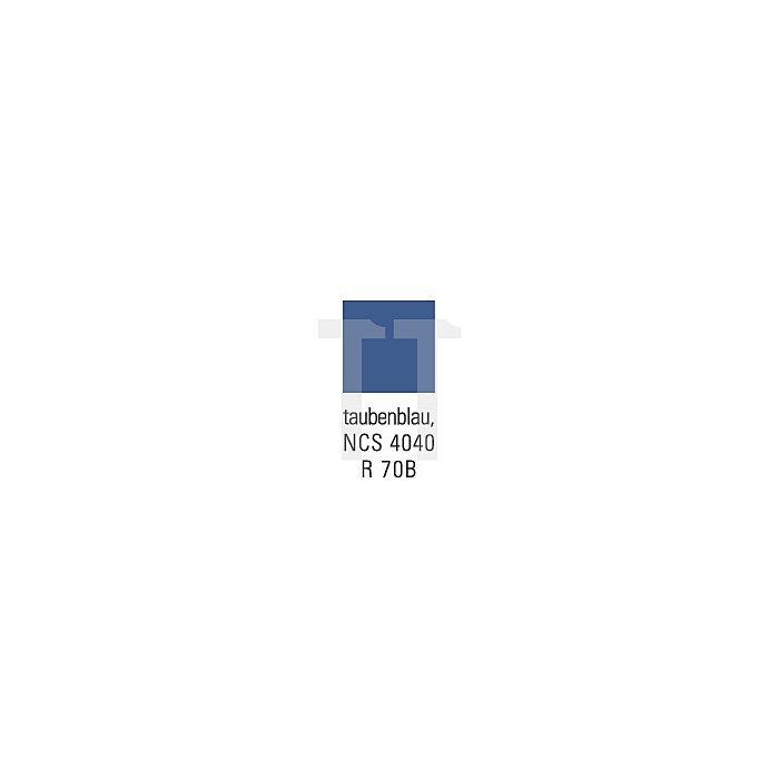Flügeltürenschrank 4 Böden Trgf. 50kg H1950xB950xT420mm anthrazit/taubenblau