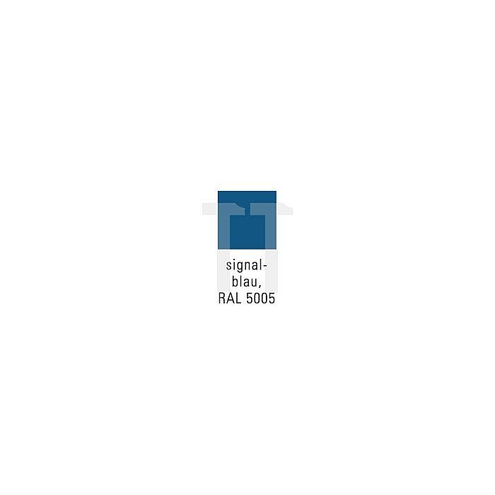 Flügeltürenschrank 4 Böden Trgf. 50kg H1950xB950xT420mm lichtgrau/signalblau
