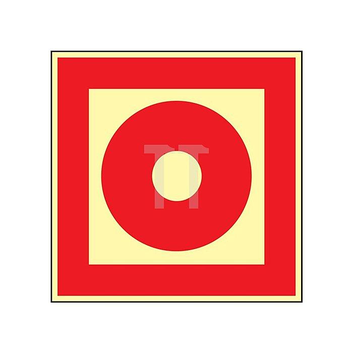 Folie Brandmelder 148x148mm rot/weiss nachleuchtend selbstklebend