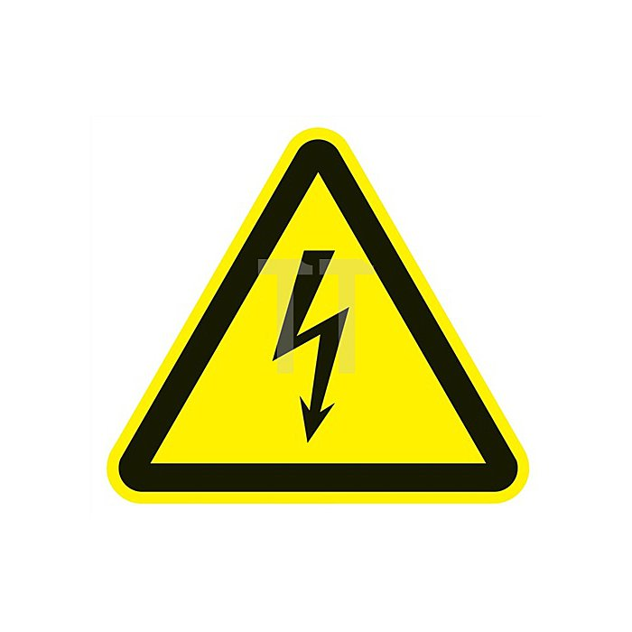 Folie elektr.Spannung 200x200mm 3-eckig gelb/schwarz selbstklebend