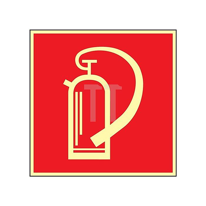 Folie Feuerlöscher 148x148mm rot/weiss nachleuchtend selbstklebend