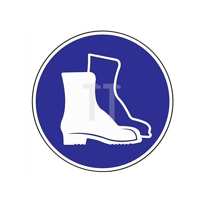Folie Fußschutz benutzen D.200mm blau/weiss selbstklebend