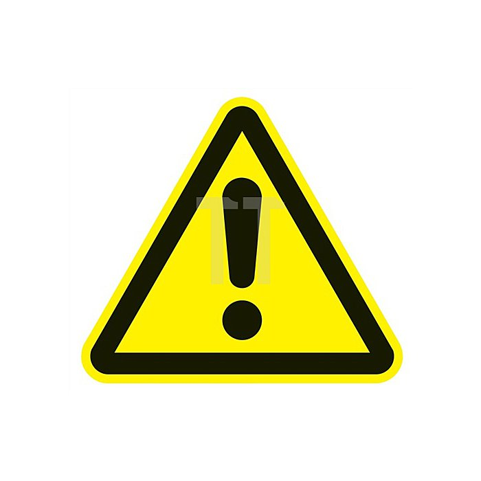 Folie Gefahrenstelle 200x200mm 3-eckig gelb/schwarz selbstklebend