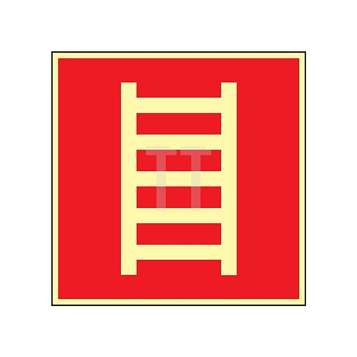 Folie Leiter 148x148mm rot/weiss nachleuchtend selbstklebend