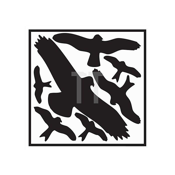 Folie Vogelschutzset 320x290mm Vogelsymbole schwarz