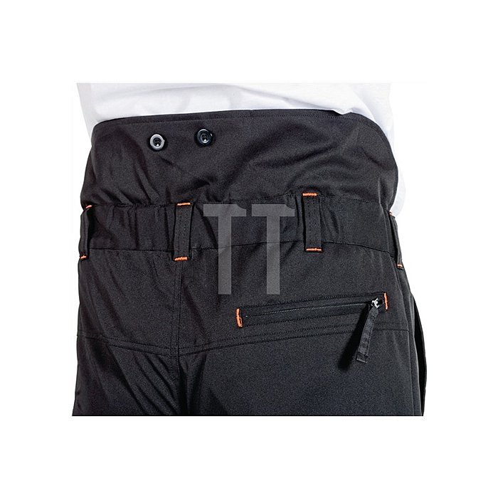 Forst-Hose-Softshell Gr.L, EN 381-5 Form A Kl.1 schwarz/orange