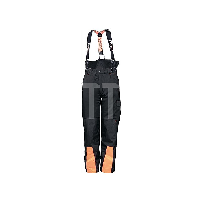 Forst-Hose-Softshell Gr.S, EN 381-5 Form A Kl.1 schwarz/orange