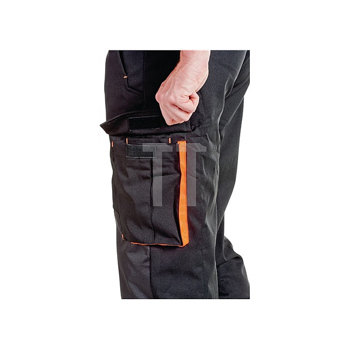 Forst-Hose-Softshell Gr.XL, EN 381-5 Form A Kl.1 schwarz/orange