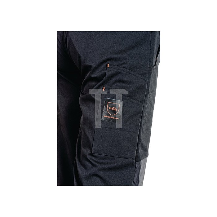 Forst-Hose-Softshell Gr.XXXL, EN 381-5 Form A Kl.1 schwarz/orange