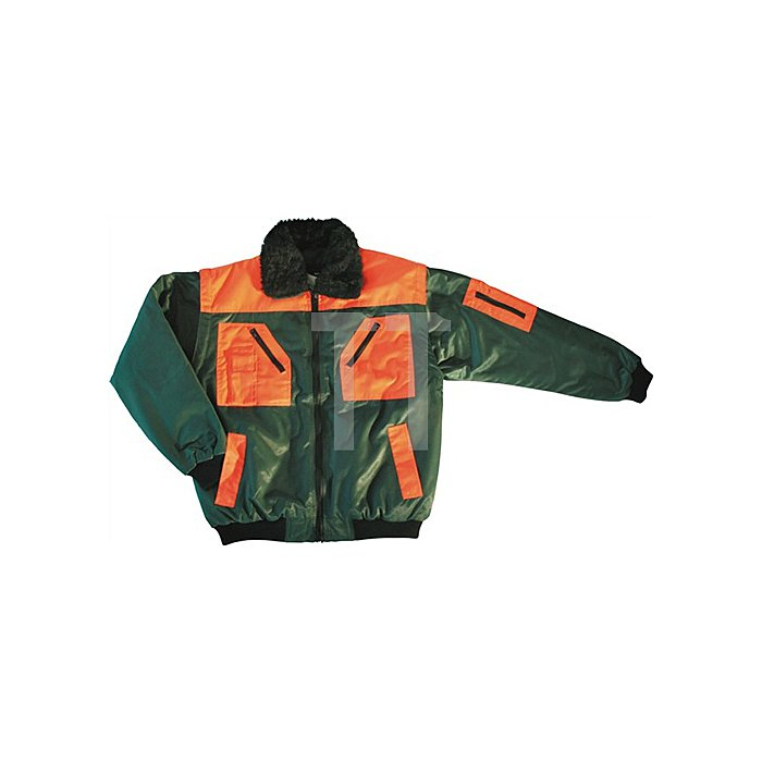 Forstpilotenjacke Gr.L grün/orange 70%Polyacryl/30%Polyester Webpelzfutter