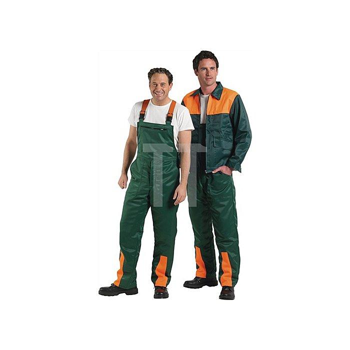 Forstsicherheitsjacke Gr.46/48 grün/orange mit Schnittschutzeinlage