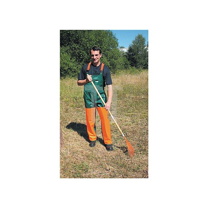Freischneiderlatzhose Gr.54/56 grün/orange m.Hosenträger