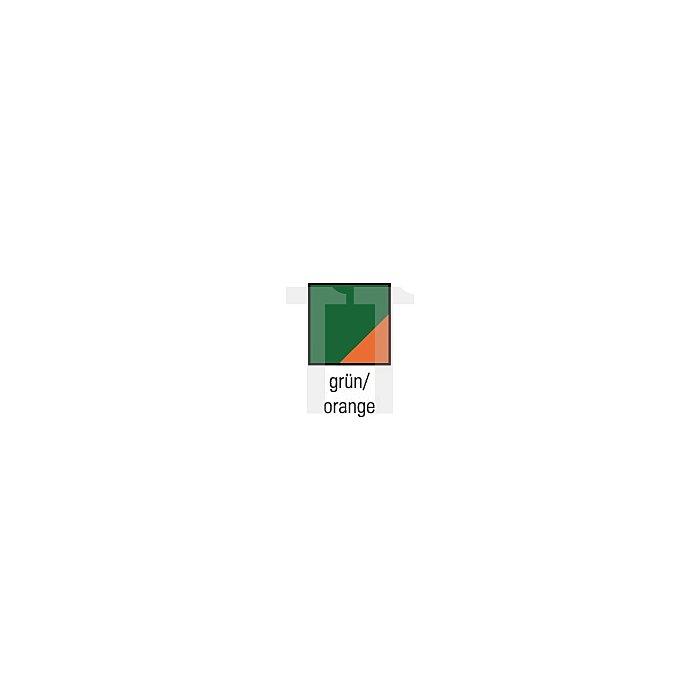 Freischneiderlatzhose Gr.58/60 grün/orange m.Hosenträger