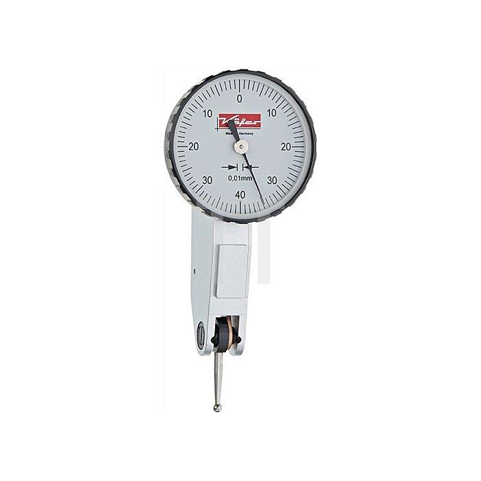 Fühlhebelmessgerät K33 0,5mm Ablesung 0,01mm rechtwinklig m.Werkskalibrierung