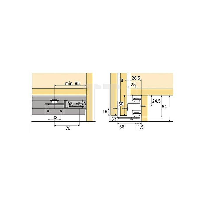 Führungsprofil Top Line STB 12 / 046420 Länge 6000mm Aluminium blank