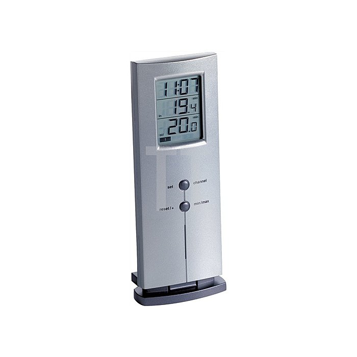 Funkthermometer silber digital 166g H.170xB.65xT.35mm f.innen