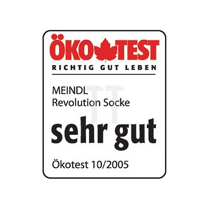 Funktionssocke Gr.44-47 Revolution lang anthrazit/gelb Meindl weicher Bund