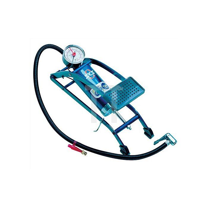 Fußluftpumpe 7 bar m.Manometer SKS