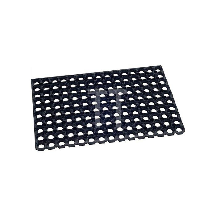 Fußmatte Gummi B.390xL.590mm Rahmen B.400xL.600mm Stärke 23mm