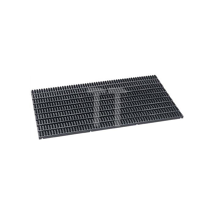 Fußmatte mit Bürsten B.400xL.600mm Stärke 23mm